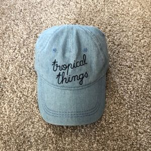 Roxy tropical things denim hat